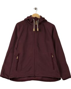 Fjallraven Women's Ovik Fleece Hoodie Dark Garnet 0