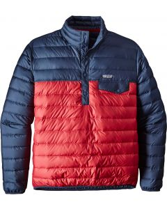 Patagonia Men's Down Snap-T Pullover Classic Red 0