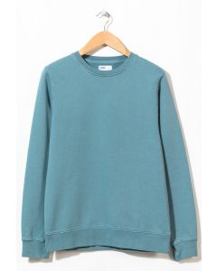 Colorful Standard Men's Classic Organic Crew Neck Sweatshirt Stone Blue 0