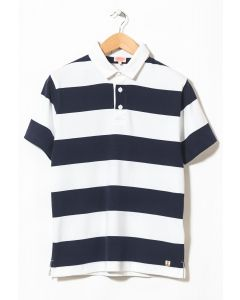 Armor Lux Men's Polo Rugby MC Heritage Blanc/Navire 0