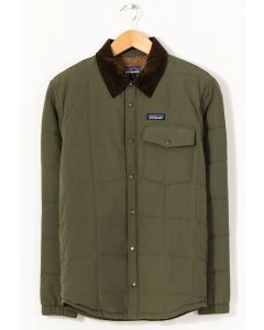 Patagonia Men's Isthmus Quilted Shirt Jacket Industrial Green 0