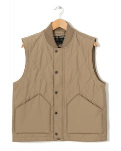 Filson Men's Quilted Pack Vest Grey Khaki 0