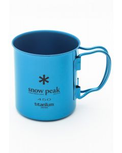 Snow Peak Titanium Single Cup 450ml Blue 0
