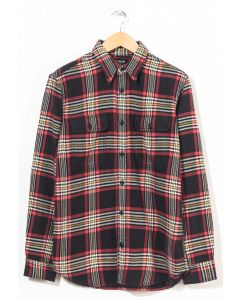 Filson Men's Vintage Flannel Work Shirt Black/Red/Gold 0