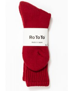 RoToTo Loose Pile Socks Red 0