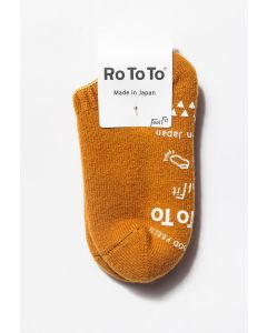 RoToTo Pile Sock Slippers Gold 0