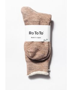 RoToTo Double Face Socks Camel 0