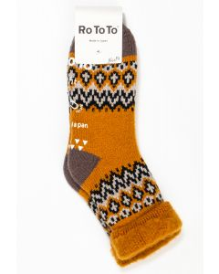 RoToTo Comfy Room Nordic Socks Yellow 0