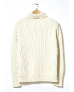 Andersen-Andersen Navy Turtleneck Jumper Off White 0