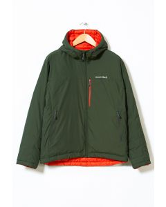 Montbell Men's Colorado Parka Jacket Khaki Green/Orange 0