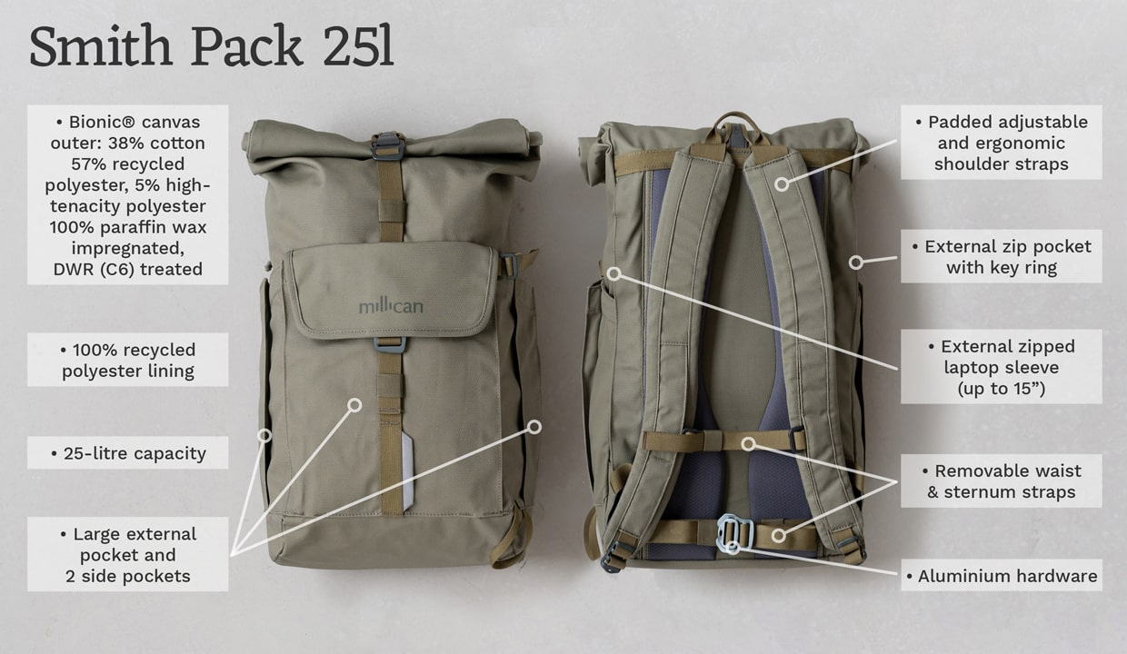 Millican Smith The Roll Pack 25l