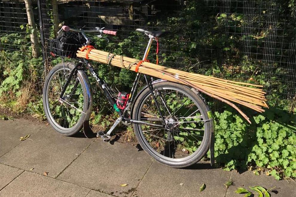 Transporting Wood Utility Bike