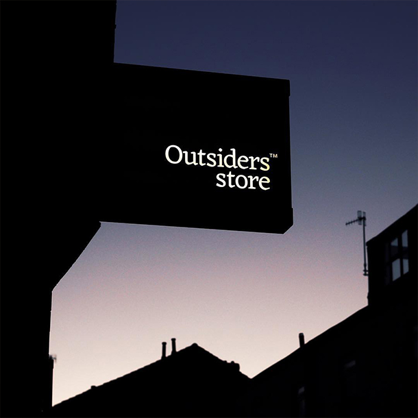 Outsiders Store Sign