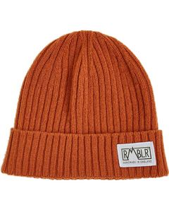 RMBLR Bray Lambswool Woven Patch Beanie Sienna