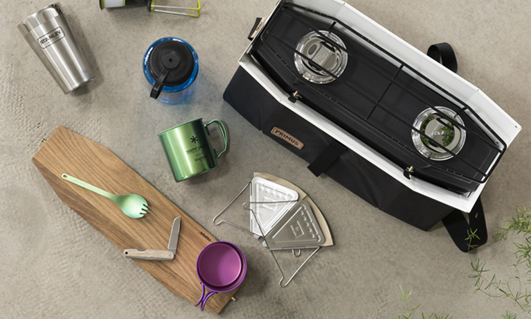 Camping equipment selection