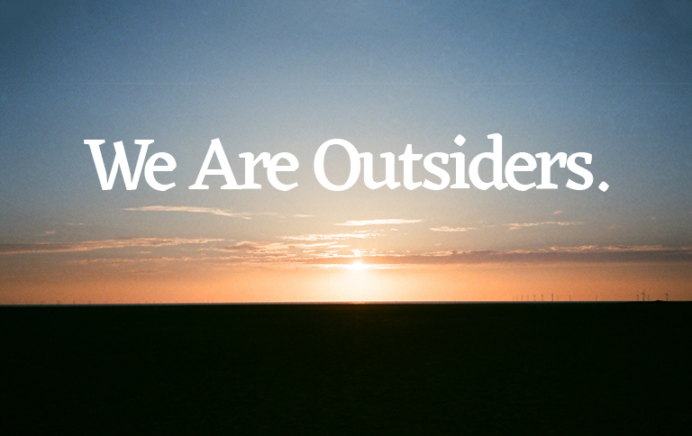 we are outsiders sunset