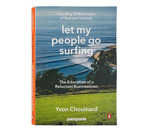 A book with the title 'let my people go surfing'